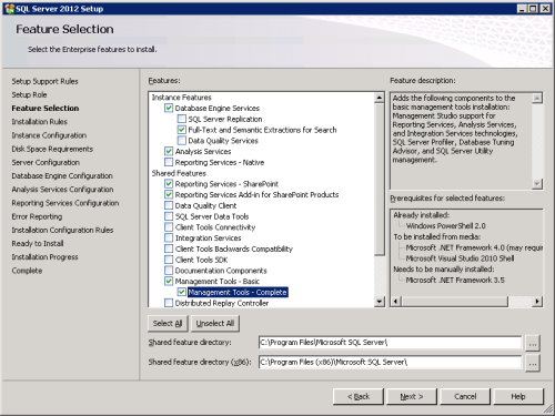 SQL 2012 features
