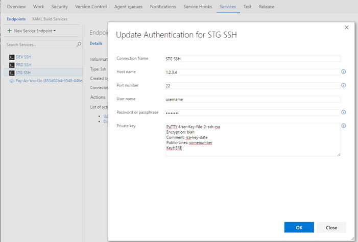 Using Visual Studio Team Services build tasks for Linux over SSH