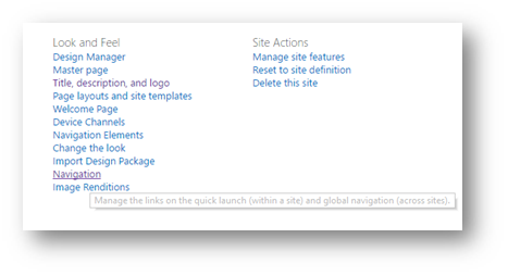 SharePoint Online Global Navigation Across Site Collections, With