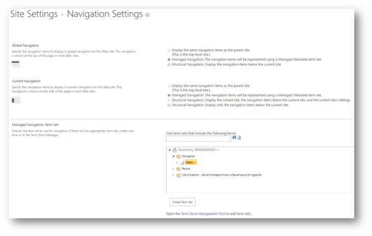 ... -through-managed-navigation-in-sharepoint-server-2013 see steps 5-7 One note, it doesn't seem to preserve custom sorting from the parent term set.
