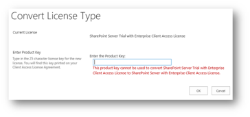 sharepoint 2013 trial license key