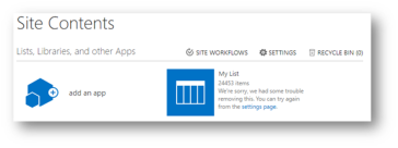 Deleting a large list from SharePoint using PowerShell – Solving
