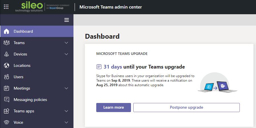 Office 365- Microsoft Teams Skype Upgrade AUTOMATICALLY